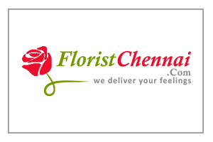 Red Rose With Green Stem, Followed by Company Name Written In Green And Red Combination And Their Tag Line